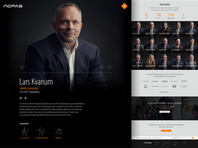 Nofas | About pages interface photography minimal webdesign website web ui homepage clean grid design responsive