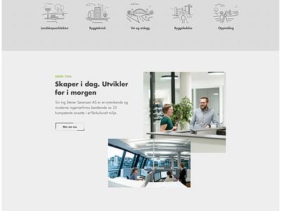 Homepage redesign | Stener Sørensen interface photography minimal webdesign website web ux ui clean grid design responsive