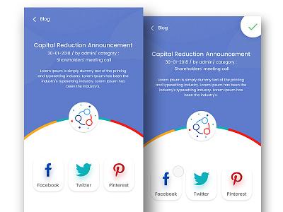 Daily UI #010 Social Share web social share minimal dailyui blog animation 010