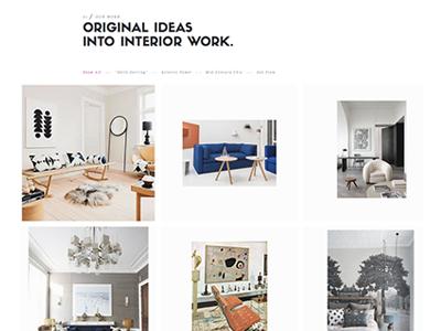 Portfolio page  web design ux ui interior design