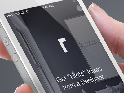 Roomhints Login Screen Design ux ui design login screen mobile app