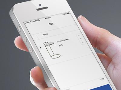 Cart Screen Mockup for Roomhints mockup app mobile ecommerce cart screen