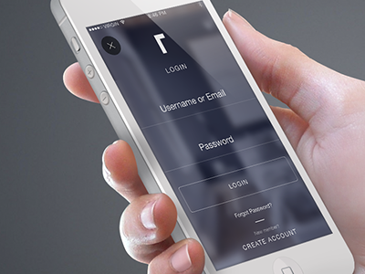 Iphone Mockup Roomhints Login Screen animation iphone mobile app roomhints login screen