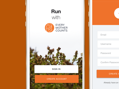 Mobile App Design for Charity Every Mother Counts ios design app mobile