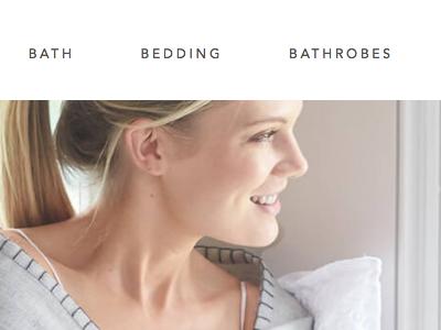 UI / UX for Luxury Bedding site ecommerce bedding ux ui