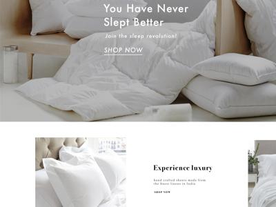 UI / UX design for luxury bedding Site ecommerce bedding ux ui