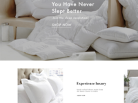 UI / UX design for luxury bedding Site ecommerce bedding ux ui