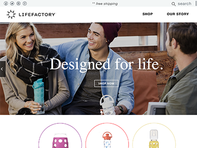Life Factory - Homepage Redesign ux ui redesign design ecommerce
