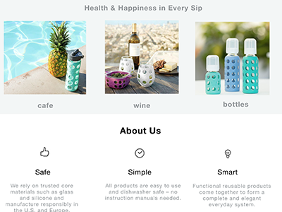Life Factory - Homepage Redesign ui ux typography icon design