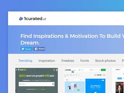 1curated.cf | Directory for designers designers curation web design ux ui