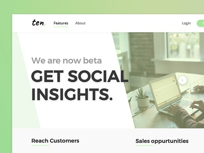 Ten Marketing agency landing page