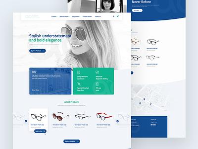 Landing page Redesign for Eyewear brand color clean debut eyewear minimal