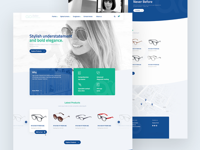 Landing page Redesign for Eyewear brand