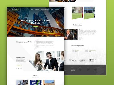 ASIFMA homepage redesign idea designers debut color semi flat marketing beta ux ui design clean