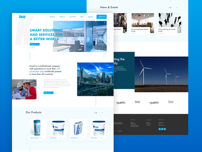 KNAUF redesign idea materials building blue industrial curation designers debut color semi flat marketing beta ux minimal design clean