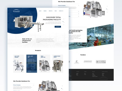 Machinery company redesign concept modern corporate industrial machinery machines curation designers debut color ui semi flat marketing beta minimal design clean