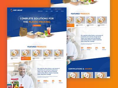 Plastic Manufacturing company ux ui designers color debut semi flat minimal marketing clean beta design