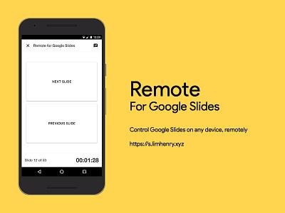 Remote for Google Slides web pwa preact firebase chrome extension