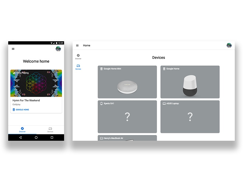 Google Home Progressive Web App by Henry Lim on Dribbble