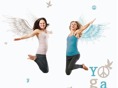 Yoga am Engel Winter 2016 angel design free wings graphic yoga