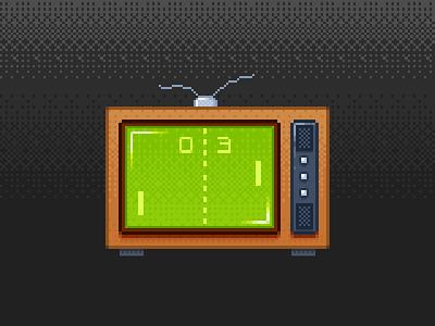 Retro TV pixel art video games old tv old school pong tv 8bit retro