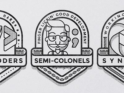 Dev Team Badges military badges badge illustration developers dev teams team