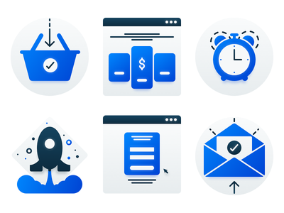 Small Illustrations login emails pricing page pricing orders payments illustrations icons