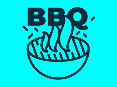BBQ Time! fire food park icon summer illustration bbq