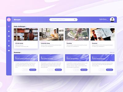 Learning platform concept ux ui figma purple web app design concept studying courses