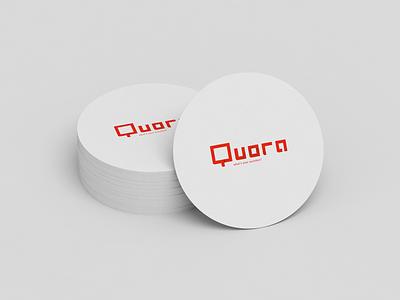 Quora red design logo design quora