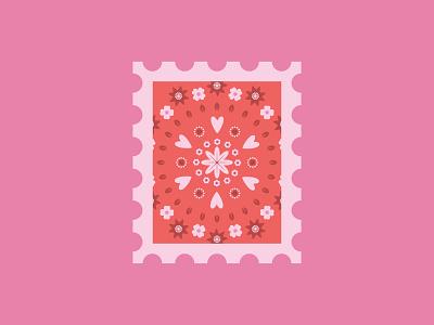 Stamp mail valentines stamp design