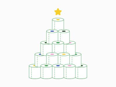 Toilet Paper Tree covid star christmas tree toiletpaper