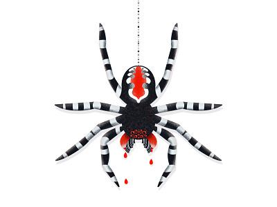The Joker Spider procreate illustration web monster scary blood claws fangs spider joker halloween spooky