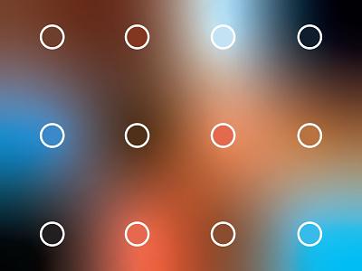 Color Palette animation gradient mesh design palette color palette color coral tan brown blue