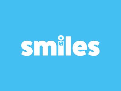 Smiles minimal type app branding typography logo vector illustration design