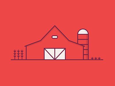 Family Farm bin grain soybeans corn vectors farm farming vector red barn barn
