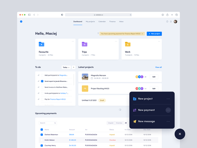 Planner Dashboard - Web app dailyui page cards web minimal icon concept overview jira trello design app planner payments tasks ux ui widelab dashboard clean