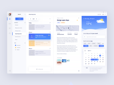 🌩️ Desktop planner app clean interface tasks reminder to do ux ui scheduler planner desktop app figma