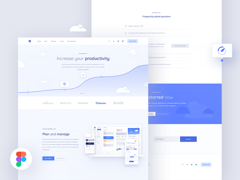 ⚪ Clean and simple website freebie above digital app desktop simple clean freebie page landing website web figma