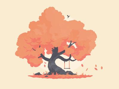 Tree 01 study illustration vector