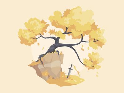 Tree 02 study illustration vector