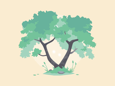 Tree 03 vector study illustration