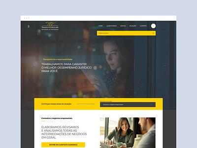 T & V - Advogados dailyinspiration flat dribbble ux ui design web design web layout behance webdesign interface design ux ui advocate advocacy