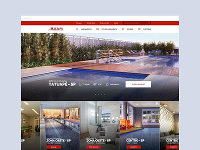 AAM - Construtora digital dibbble dailyinspiration flat dribbble ux ui design web design web layout behance webdesign interface design ux ui