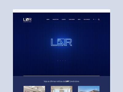 Lar - Construtora dibbble dailyinspiration flat dribbble ux ui design web design web layout behance webdesign interface design ux ui