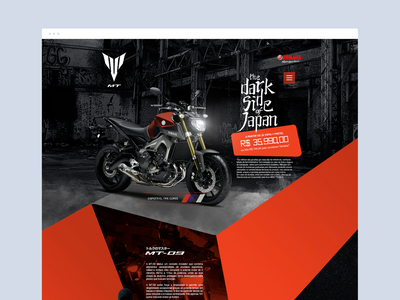 Yamaha - MT07 art director adobe graphic dibbble dailyinspiration flat dribbble ux ui design web design web layout behance webdesign interface design ux ui