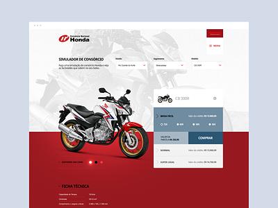Honda - Consórcio bmw branding digital art director adobe graphic dibbble dailyinspiration flat dribbble ux ui design web design web layout behance webdesign interface design ux ui