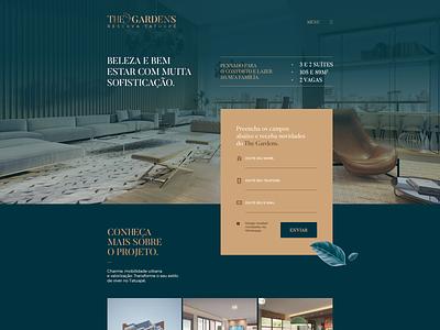 The Gardens dibbble dailyinspiration flat dribbble ux ui design web design web layout behance webdesign interface design ux ui