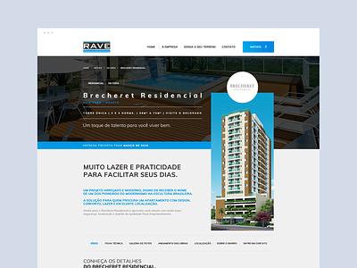 Rave - Construtora dibbble dailyinspiration flat dribbble ux ui design web design web layout behance webdesign interface design ux ui