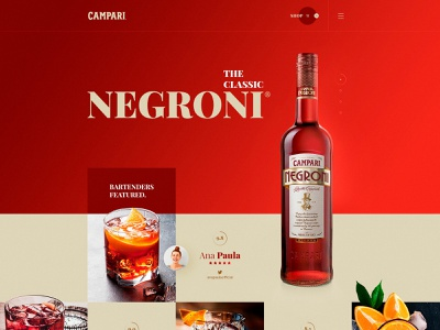 Campari Negroni campari flat dribbble ux ui design web design web layout behance webdesign interface design ux ui